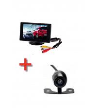 Pack Universel : Caméra de Recul Standard + Ecran d'affichage