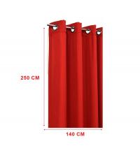 panneaux de rideaux Toile Rouge