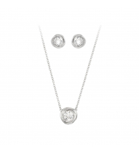 Parure crystal solitaire