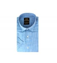 Chemise homme bleu