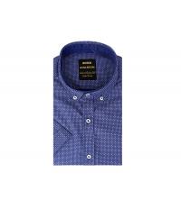Chemise demi-manche homme Bleu & Blanc