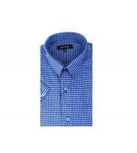 Chemise demi-manche homme Bleu Ciel & Bleu