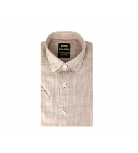 Chemise demi-manche homme Beige