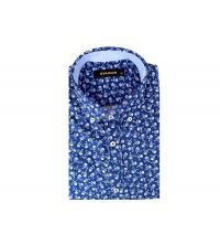 Chemise demi-manche homme Bleu foncé
