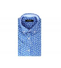 Chemise demi-manche homme Bleu