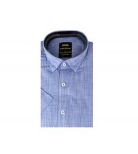 Chemise demi-manche homme Bleu Jean