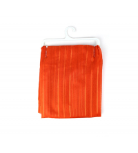 Simple vitrage voile rayé Orange