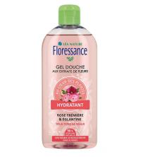 Floressance Gel douche Rose Tremière et Eglantine bio, 500 ml