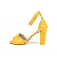 Sandales femme Jaune