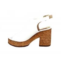 Sandales femme Noir & Argent