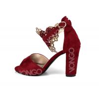 Sandales femme Rouge