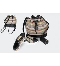 Pack 3en1- Espadrilles+ sac à dos et pochette Noir