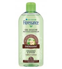 Floressance Gel Douche Energisant - Gingembre & Vétiver Cheveux et Corps