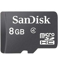MicroSDHC 8 GB Class 4 Flash Memory Card, Sans Adaptateur
