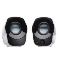 Logitech Stereo Speakers filaire : utilisation un ordinateur portable couleur noir et blanc 980000513