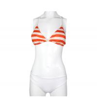 Maillot 2 pièces, bikini Blanc & orange