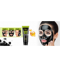 Masque Visage Black Mask Anti Tâches Noires, Acné - 80ml