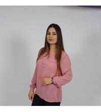 chemise rose de marque crepe de soie pour femme