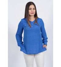 chemise bleu roi de marque crepe de soie pour femme