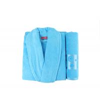 coffret cap de bain +serviette Bleu ciel
