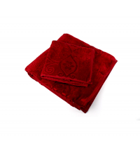 Ensemble serviette de bain Rouge bordeaux