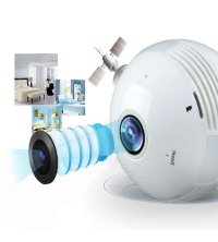 Panoramique 3D - Ampoule Camera Wifi