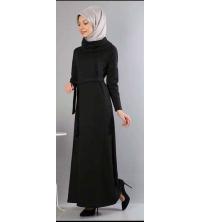 robe noir longue pour femme voilé