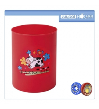Hogar Poubelle Décorée Pour Enfant - 7.5 L - Rouge