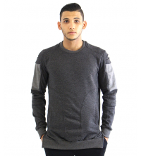 Pull Gris Fashion molleton gratté