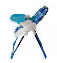 Chaise haute -Feuilles bleu - Turquoise