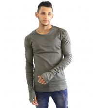 PULL Homme vert militaire