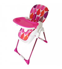 Chaise haute - Feuilles roses - Rose-EVENFLO Baby