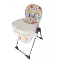 Chaise haute - Des petits éléphants - Blanc
