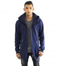 Gilet Bleu fashion avec capuche
