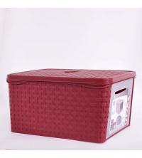 Bama Boite De Rangement Multi-usage - En plastique 31 x 21,2 x 40,5 cm Avec couvercle - Rouge