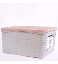 Bama Boite De Rangement Multi-usage - En plastique 31 x 21,2 x 40,5 cm Avec couvercle - Gris