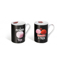 Set de 2 Mugs - Noir - 30 CL