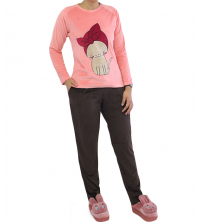 Pyjama velours Rose
