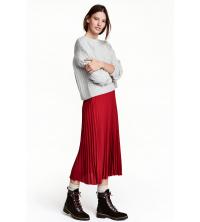 jupe plissée Rouge