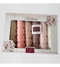 Lot de 6 serviettes de bain - 50 * 90 cm - Rose