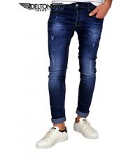 Jean Homme - Déchiré - Slim Fit - Bleu Foncé