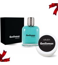 Lot Cadeau Homme Genteman - Parfum 100ml - Crème de corps 30ml