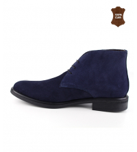 Bottine Homme Daim Bleu