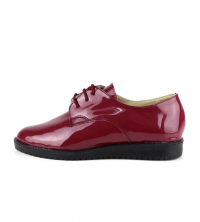 Derbies femme Rouge bordeaux