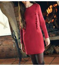 robe rouge bourdon pour femme
