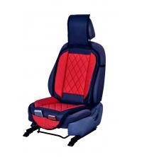 Couvre siège simili cuir Rouge et Bleu
