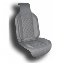 Couvre siège simili cuir gris