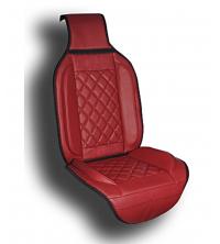 Couvre siège simili cuir rouge
