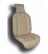 Couvre siège simili cuir beige