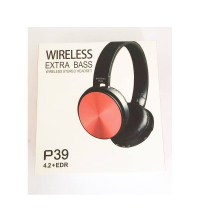 CASQUE BLUETOOTH P39 4.2 + EDR STEREO EXTRA BASS - Rouge